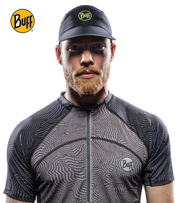 Czapka Buff® Pack Run Cap R-Flash Logo Black