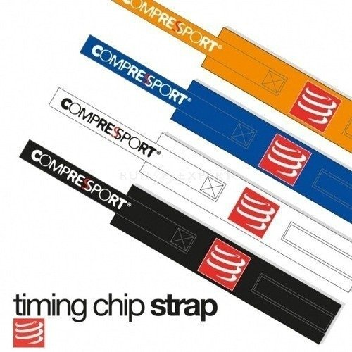 Pasek na chip startowy COMPRESSPORT® Timing Chip Strap Blue